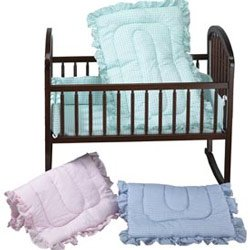 Pink Gingham Crib Bedding front-970946