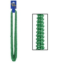 Party Beads - Small Round (green) Party Accessory  (1 count) (12/Card)