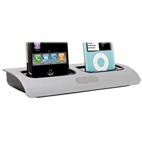 31 X5UpCGFL. SL500 AA280  Griffin 9806 MLTDCK2 Powerdock Dual Position Charging Station for iPod and iPhone (Silver)   $30 + free shipping