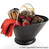 Chimney 47144 Woodfield Coal Hod Sampler With Golves. Contains Magical Color Cones Pine Cone Fire Starters Southern Fatwood and 13 Inch Woodburner Fts Red Leather Gloves