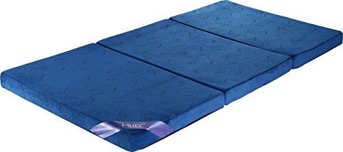 腰痛におすすめ 【MLILYエムリリー】三つ折マットレス 敷き布団 優反発&高反発の二層構造 シングル 厚さ8cm