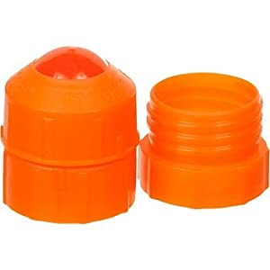 Pet Top Combo Portable Drinking Device and Short Neck Adapter for Pets, Orange