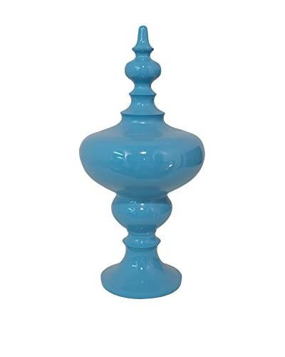 Three Hands Resin Tabletop Finial, Blue