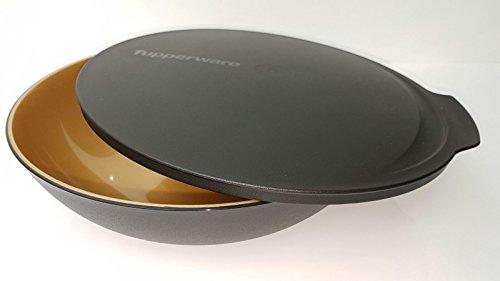 tupperware-allegra-servierschale-schussel-mit-deckel-schwarz-gold-weihnachten-15-liter-salat-buffet-