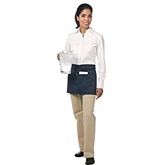 "Chef Revival 605WAFH Poly Cotton ""Front of the House"" Waist Apron, 23 by 12-Inch, Navy Blue"