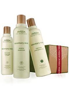 Aveda refresh-mint Gift set, Rosemary Shampoo 8.5oz, Conditioner 8.5oz, Body Lotion 6.7oz