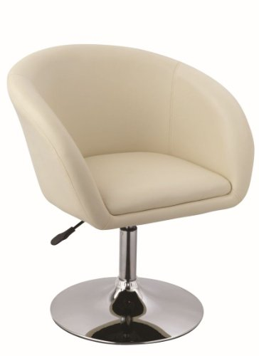 Clubsessel in CREME höhenverstellbar Kunstleder Sessel Coctailsessel Loungesessel fauteuil Armchair Model Nr. 0094