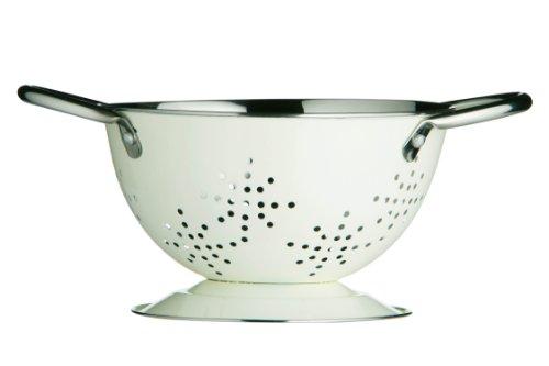 Premier Housewares 0508983 Mini Rétro Passoire Émail Crème 14 cm