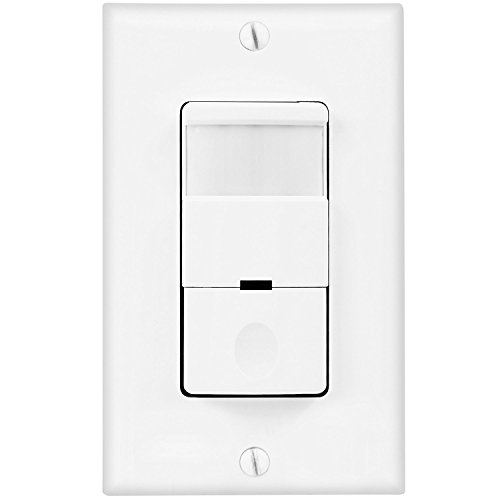 TOPGREENER TDOS5 Occupancy Sensor Light Switch, 500 Watts 1/8 HP Single Pole Free Wall Plate NEUTRAL REQUIRED, White (Commercial Door Blinds compare prices)