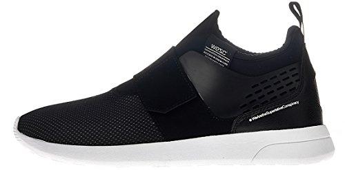 Wesc Men's Pl Slip On Sneakers In Black Color In Size 41 Black