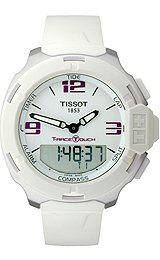 Tissot T-Race Touch White Quartz with Synthetic Strap Men's watch #T0814201701700
