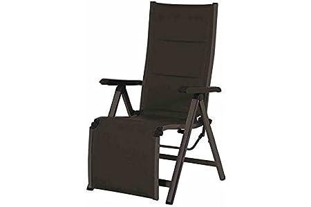 Mwh 383723 - Futosa silla de relajación, marco de aluminio, tela tejida, gris / antracita