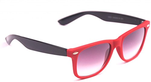 Red Wayfarer Plastic Red Grey Sunglasses (Multicolor)