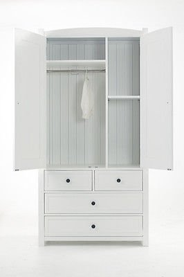 Willow Two-in-One Chest of Drawers and Double Wardrobe