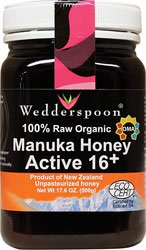 100% Raw Organic Manuka Honey Active 16+, 17.6 oz (500 g)