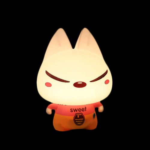 Creative Cool Cat Wearing Pink T-Shirt And Yellow Pants Led Night Light front-636902