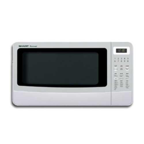 5 Cubic Feet Microwave Oven: Sharp R-410LW Carousel 1-2/5-Cubic-Foot Family-Size