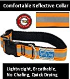 Quick Dry Comfortable Air Dog Collar(Orange Reflective)(Medium)