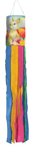 Toland Home Garden 162468 Bunny Tulip Windsock, 6 by 42