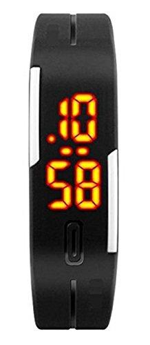 Origlow Accessories TPU Band LED Digital black dial Unisex Watch-ORI7
