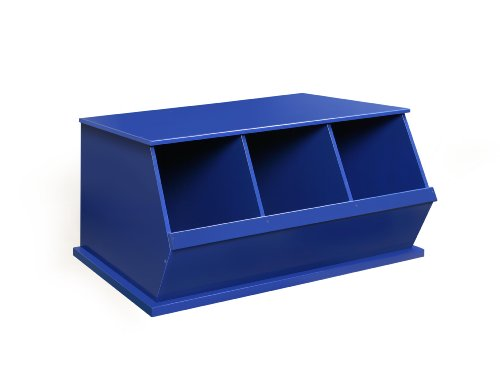 Badger Basket Three Bin Storage Cubby, Blue