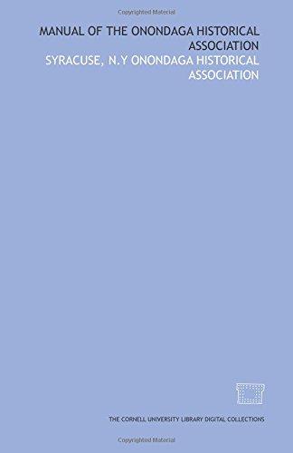 Manual of the Onondaga historical association