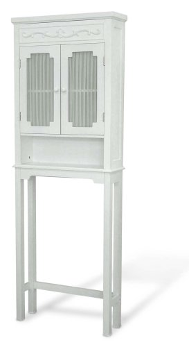 Review Of Elegant Home Fashions Lisbon Collection Shelved Bathroom Space-Saver, White