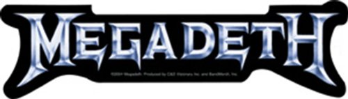 Licenses Products Megadeth Silver Logo Sticker