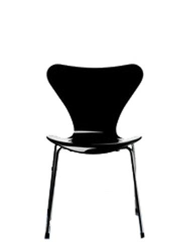 Fritz Hansen - Serie Sieben 3107 - Lack - lackiert schwarz - Arne Jacobsen - Design - Esszimmerstuhl - Küchenstuhl - Speisezimmerstuhl