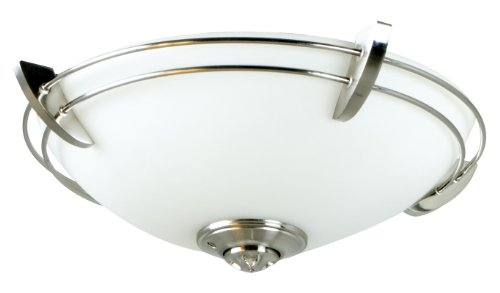 Craftmade Lighting LK207CFL-SS Economy - Two Light Ceiling Fan Kit, Stainless Steel Finish with Opal White Frosted Glass