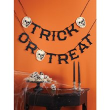 Trick or Treat Skeleton Garland