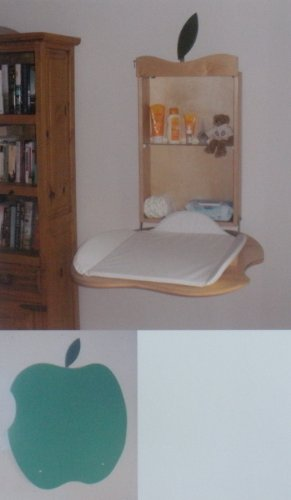 Fold Down Baby Changing Table Apple Design (Green)