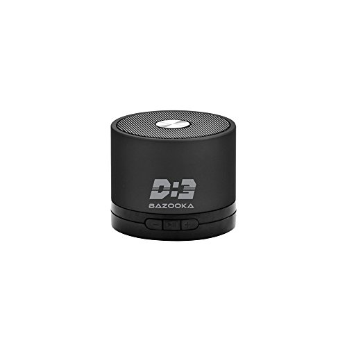 ICE D3Bazooka Bluetooth Speaker with FM and TF Card Support (Jet Black)
