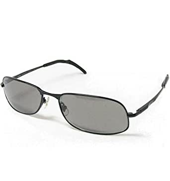 Nikon Eyewear Sunglasses Luminosi-Ti Performance Sunwear LU1005-1 0381 Shiny Black Titanium Frame with Gray Polarized Photochromic Lenses