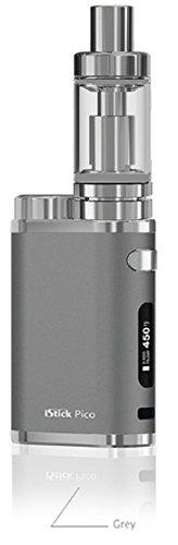 *Großer Tank* E-Zigarette Eleaf iStick Pico TC 75 Watt / MELO 3 Verdampfer 4ml Komplett Set, grau (ohne Akku)