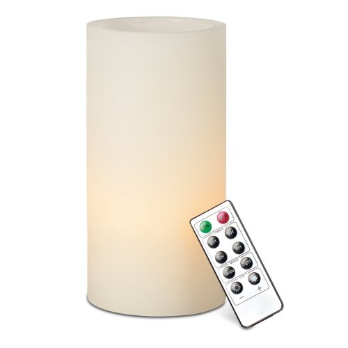 Gerson Universal Remote Wax Led Candle, 4 By 8-Inch