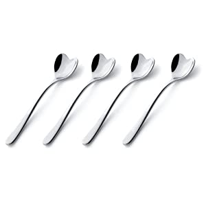 Alessi Il Caffe Alessi Set of 4 Heart-Shaped Spoons by Miriam Mirri
