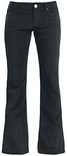 Black Premium by EMP Cord Extra Boot (Boot-Cut) Pantaloni donna nero W28L32