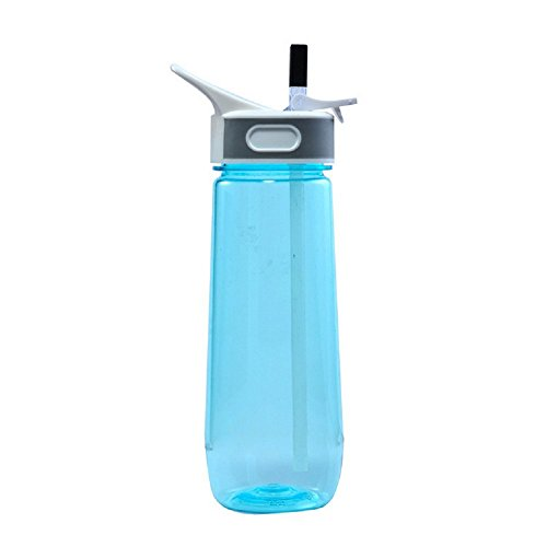 Creative Straw Water Bottle,Fashion Reusable Large Camping Sports Light Weight Cold- water &Hot-water Bottle (Blue) (Stove Bottle Sterilizer compare prices)