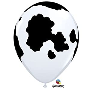 Holstein Cow Print Latex Balloons Qualatex 25 Per Pack