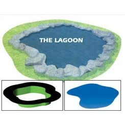 Preformed Flexible 30-mil PVC Ornamental Pond Liner - The Lagoon - 633 Gallons