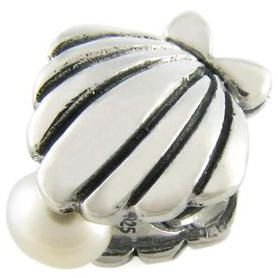 Pearl in Sea Shell 925 Solid Sterling Silver Authentic Ohm Bead fits European Charm Bracelet