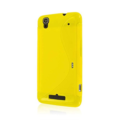 Empire Mpero Flex S Series Protective Case for ZTE Boost Max N9520 - Retail Packaging - Yellow (Boost Max Phone Protective Cases compare prices)