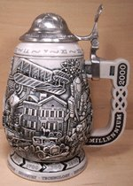 Miller Brewing Company Limited Edition Lidded Millennium Brewery Beer Stein