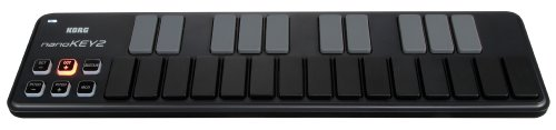 Korg nanoKEY2 Slim-Line USB Keyboard, Black