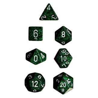 Polyhedral 7-Die Chessex Dice Set - Speckled Recon