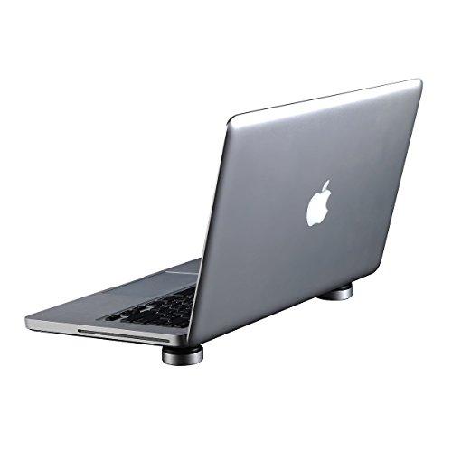 JOBSON™ 【軽量×コンパクト設計】 ノート パソコン PC 用 / ipad air mini 等 タブレット 用 冷却 スタンド 持ち運びに便利 JB435 (アルミニウム製) メーカー長期保証12カ月