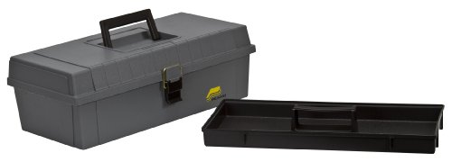 Plano 303-008, 15-Inch Compact Tool Box, Graphite Gray with Black Handle and Latches