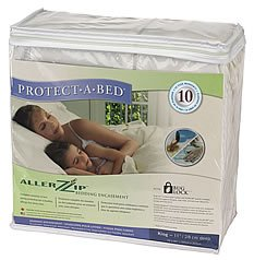 AllerZip Terry Waterproof Bed Bug Proof Zippered Bedding Encasement, Twin Size (Fits 7 - 12 in. H)