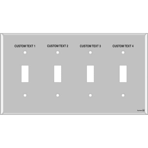 Engraved Switchplate With Light Switch Labels